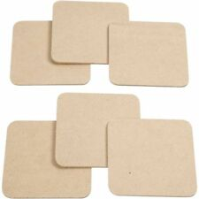 Plain Coasters Set 6pcs Square Wood Coaster MDF Craft Blanks For Decoration 10cm