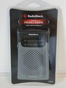 RadioShack AM/FM Pocket Radio 1200586 Outdoor Camping Transistor Brand New!