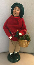 Byers Choice 1998 Man with Christmas Sweater and Basket of Greens - Excellent