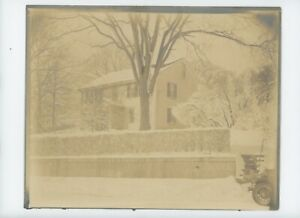 Vintage 8 x 10 Photo Beautiful Home in Winter snow about 1920