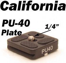 "PU-40 Quick Release Plate J1 N1 Tripod ball head Arca Swiss w 1/4"" Screw PU40"