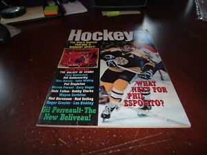 action sports 1971-1972 yearbook hockey magazine ken dryden phil esposito nhl