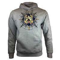 DISNEY Cruise Line Mens Hoodie Sweatshirt Mickey Mouse Hooded Sweater Gray New