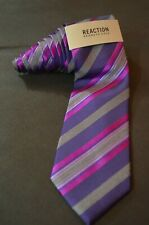 KENNETH COLE REACTION, Dark Purple & Pink Diagonal Striped Neck Tie, NWT, $59.50