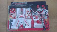Vintage 1984 Hasbro/Bandai Transformers G1 heroica Autobot Jetfire robot impresionante