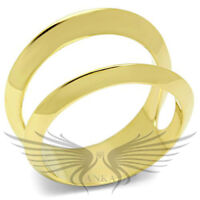 Women's IP Yellow Gold Plated Fashion Ring No Stone 5 6 7 8 9 10 GL281