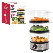 Quest Digital Electric 3 Tier Food Steamer Multi Cooker Rice Vegetables Fish 6L