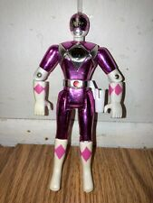 Vintage 1995 Power Rangers Movie 8? Inch Metallic Figure Pink Ranger Bandai