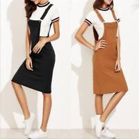 Korean Women Empire Waist Strap Overall Suspender Skirt Slim Casual Pencil Dress