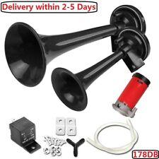 Super Loud 178Db Car Truck Train Boat Dual Trumpet Air Horn Compressor 12V/24V