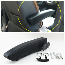 Cozy Adjustable Car SUV Seat Console Box Arm Rest Armrest Black PU Leather Right