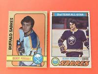 Gilbert Perreault Hockey Card 2 Card Lot 1972-73 and 1977-78 Buffalo Sabres