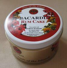 BACARDI: EMPTY COLLECTIBLE RUM CAKE TIN