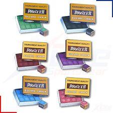 Pioneer Snooker Pool Billiards Cue Club Chalk 1, 3, 6, 12 or 24 Cubes