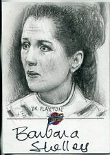Blakes 7 Series 1 Autographed Sketch Card By Andy Fry (Barbara Shelley)