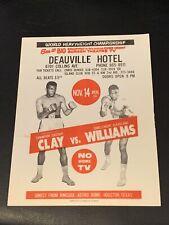 Rare 1966 Original Cassius Clay Vs. Cleveland Williams Boxing Flier Handbill ALI