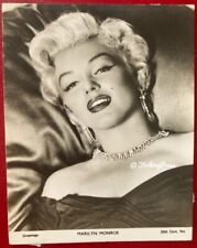 More details for marilyn monroe vintage 1950s small card film star greetings rare 1952 diamante
