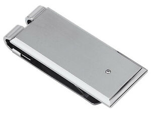 Stel Stainless Steel Rectangle Money Clip Natural Round Diamond Brushed Finish