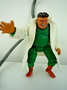 """SPIDERMAN SINISTER SIX MARVEL 2004 DR OCTOPUS IN LAB COAT 5"""" FIGURE WITH 2 ARMS"""