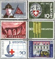 Schweiz 768-773 (kompl.Ausgabe) gestempelt 1963 Jahrestage