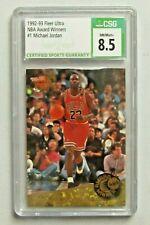 1992-93 Fleer Ultra Award Winner #1 Michael Jordan Chicago Bulls CSG 8.5 NM/MINT