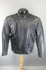CLASSIC BLACK LEATHER BIKER JACKET 44 INCH