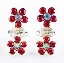 MINI Hair Claw Clip Rhinestone Crystal Hairpin Bridal Wedding Flower Red 09