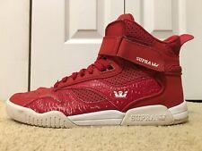 Supra Bleeker, S02108, Men's Skateboarding Shoes, Red/White, Size 10, Used