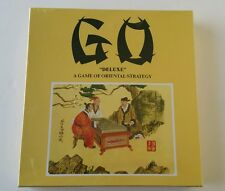 NEW SEALED GO DELUXE Game Of Oriental Strategy by Hansen Wooden Board 2 Players