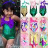 Kids Girls Swimsuit Cartoon Princess Mermaid Swimming Bikini Costume Swimwear