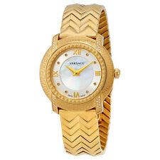 Versace DV 25 Mother of Pearl Gold-Tone Ladies Watch VAM090016