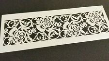 Lace Roses Border Stencil Face Body Paint Cake Decorating Icing Sugarcraft Kit