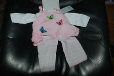 """Lee Middleton Pink Flutter Outfit  for 19"""" Vinyl Baby  Doll New with Tag"""
