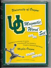 Vintage University of Oregon DUCKS Football MAGNETIC WORD SET Refrigerator Game