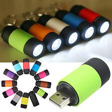 Mini Torche Électrique USB Chargés LED Lampe de Poche Lampe Porte-clés Lumières
