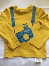 Mothercare Printed Boys Long Sleeve Top Yellow 100% Cotton New BNWD 3-6 Months
