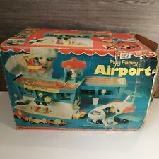 BOXED VINTAGE FISHER PRICE AIRPORT,PLANE AND ACCESSORIES GREAT CONDITION