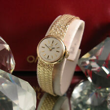 OMEGA 9 CT GOLD  VINTAGE WATCH BRACELET AND CASE CAL 483  WORKING 18.29 GRAMS