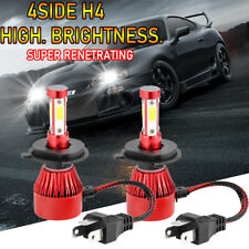 4-Sided CREE H4 HB2 9003 354000LM LED Headlight Kit Hi/Lo Beam Bulbs 6000K White
