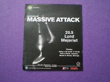 Mezzanine MASSIVE ATTACK Flyer 20.5.98