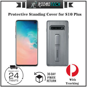 Samsung Galaxy S10+ Protective Standing Cover-Silver