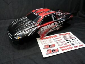 New Traxxas Nitro Revo 3.3 Red Black Painted Body Shell with Decals