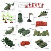 NEW! 270Pcs Toy Soldiers & Military Accessory Kit Army Men Figures For Kids Play