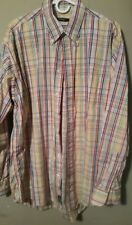 Burberry London XL Multi-Colored Long Sleeved Button Front Casual Shirt