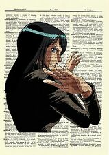 Nico Robin One Piece Anime Dictionary Art Print Book Page Poster Picture Girl