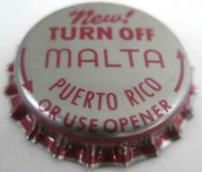 MALTA PUERTO RICO New TURN OFF Beer CROWN, Bottle CAP, Pittsburgh, PENNSYLVANIA