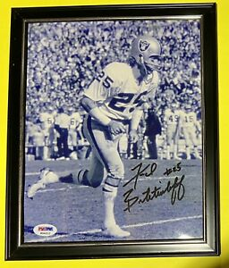 🔥Fred Biletnikoff Signed Auto Los Angeles Raiders 8x10 Photo HOF Florida State