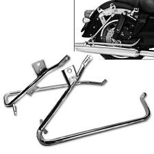L7 Chrome Saddle bag Support Bracket For Harley Touring Electra Glide Road 09-13