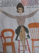 1960s BALLITO Vintage Retro STOCKINGS Seam Free Nylon No Runs Tan