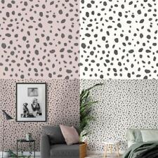 Holden Decor Dalmatian  Spot Print Trendy Contemporary Wallpaper 2 Colours